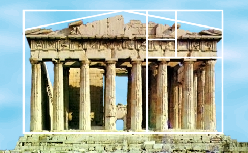 [Parthenon with golden ratio]